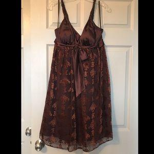 Max & Cleo Velvet Embroidered Empire Dress